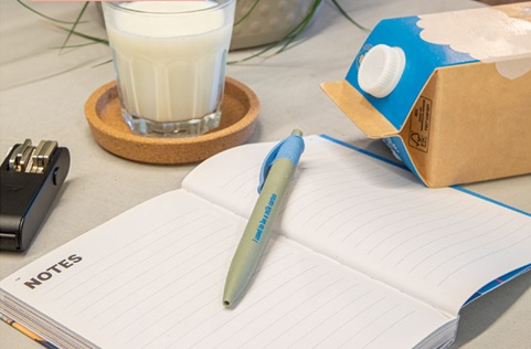 Milk carton Pen