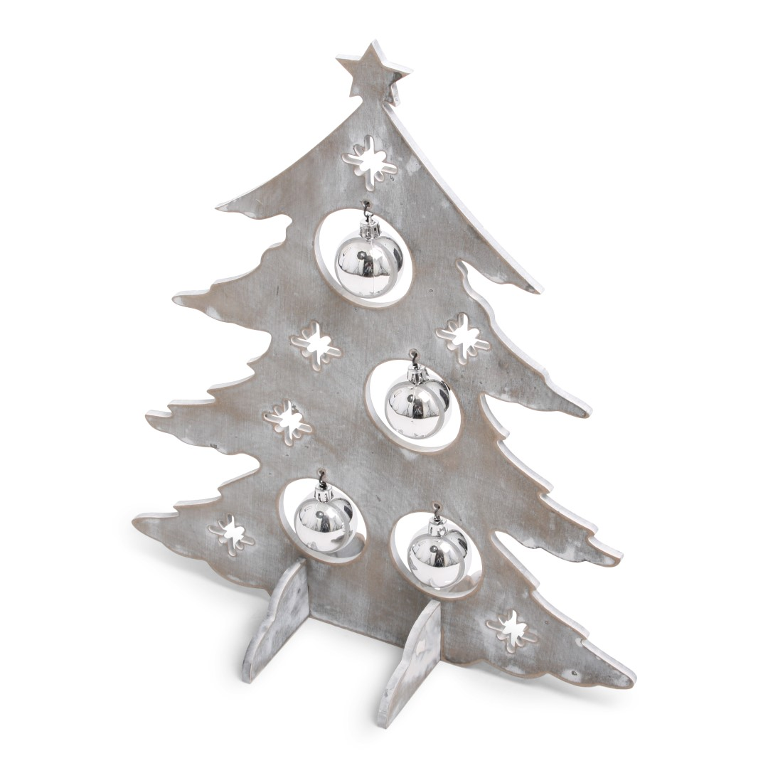 Xmas Tree Deco Grey