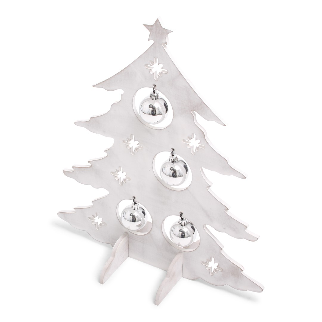 Xmas Tree Deco White